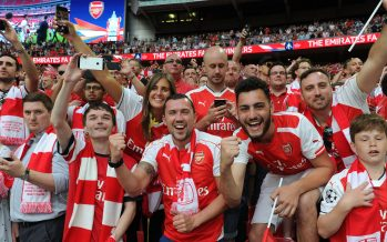 LONDON, ENGLAND - MAY 27:  Arsenal fans celebrate after the match between Arsenal and Chelsea at Wembley Stadium on May 27, 2017 in London, England.  (Photo by David Price/Arsenal FC via Getty Images) *** Local Caption *** Arsenal fans