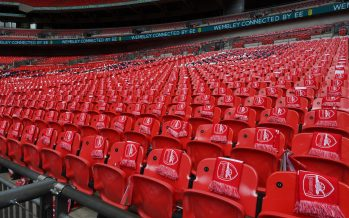 LONDON, ENGLAND - MAY 27: The Arsenal end before the Emirates FA Cup Final between Arsenal and Chelsea at Wembley Stadium on May 27, 2017 in London, England. (Photo by Stuart MacFarlane/Arsenal FC via Getty Images)