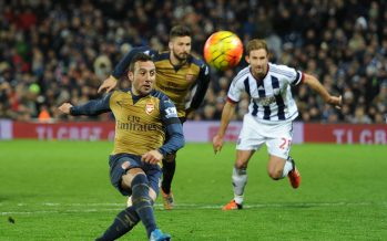 WEST BROMWICH, ENGLAND - NOVEMBER 21:  Santi Cazorla of Arsenal misses a penalty during the Barclays Premier League match between West Bromwich Albion and Arsenal at The Hawthorns on November 21, 2015 in West Bromwich, England.  (Photo by David Price/Arsenal FC via Getty Images) *** Local Caption *** Santi Cazorla