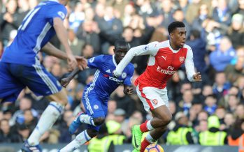 LONDON, ENGLAND - FEBRUARY 04:  Alex Iwobi of Arsenal during the Premier League match between Chelsea and Arsenal at Stamford Bridge on February 4, 2017 in London, England.  (Photo by David Price/Arsenal FC via Getty Images) *** Local Caption *** Alex Iwobi