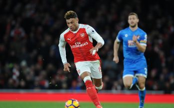 LONDON, ENGLAND - NOVEMBER 27:  Alex Oxlade-Chamberlain of Arsenal during the Premier League match between Arsenal and AFC Bournemouth at Emirates Stadium on November 27, 2016 in London, England.  (Photo by Stuart MacFarlane/Arsenal FC via Getty Images) *** Local Caption *** Premier League;Alex Oxlade-Chamberlain
