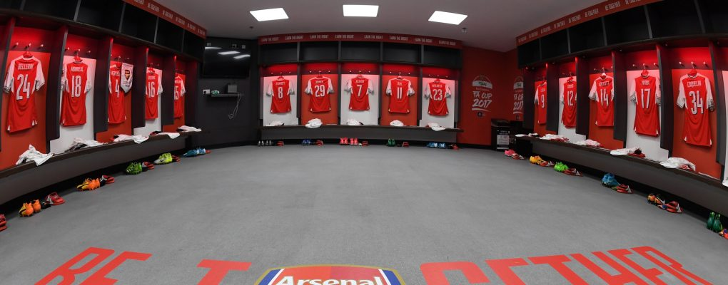 City V Southamptom Changing Room Photo