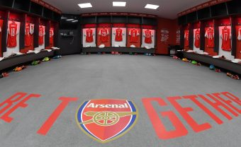 LONDON, ENGLAND - MAY 27:  The Arsenal changing room before the Emirates FA Cup Final between Arsenal and Chelsea at Wembley Stadium on May 27, 2017 in London, England.  (Photo by Stuart MacFarlane/Arsenal FC via Getty Images) *** Local Caption *** Arsenal changing room