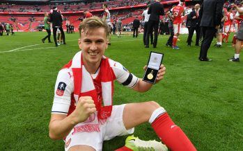 LONDON, ENGLAND - MAY 27:  Arsenal's Rob Holding after the Emirates FA Cup Final between Arsenal and Chelsea at Wembley Stadium on May 27, 2017 in London, England.  (Photo by Stuart MacFarlane/Arsenal FC via Getty Images) *** Local Caption *** Rob Holding