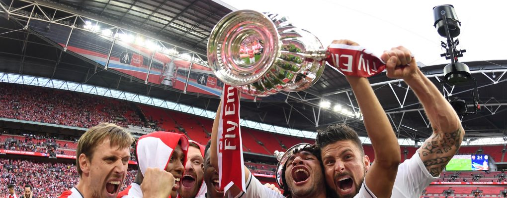LONDON, ENGLAND - MAY 27: of Arsenal during the Emirates FA Cup Final between Arsenal and Chelsea at Wembley Stadium on May 27, 2017 in London, England. (Photo by Stuart MacFarlane/Arsenal FC via Getty Images)