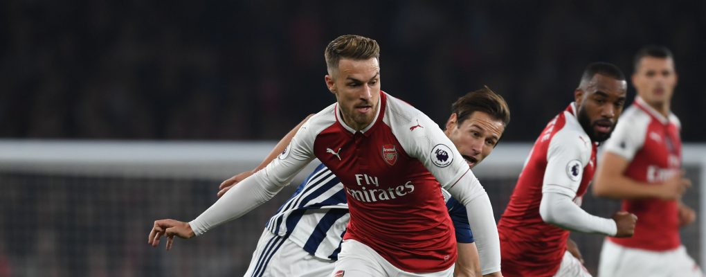 LONDON, ENGLAND - SEPTEMBER 25:  Aaron Ramsey of Arsenal during the Premier League match between Arsenal and West Bromwich Albion at Emirates Stadium on September 25, 2017 in London, England.  (Photo by Stuart MacFarlane/Arsenal FC via Getty Images) *** Local Caption *** Aaron Ramsey