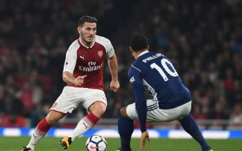 LONDON, ENGLAND - SEPTEMBER 25: Sead Kolasinac of Arsenal takes on Matt Phillips of West Brom during the Premier League match between Arsenal and West Bromwich Albion at Emirates Stadium on September 25, 2017 in London, England. (Photo by Stuart MacFarlane/Arsenal FC via Getty Images) *** Local Caption *** Sead Kolasinac;Matt Phillips