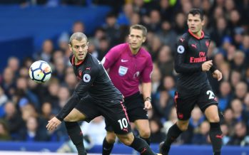 LIVERPOOL, ENGLAND - OCTOBER 22:  Jack Wilshere of Arsenal during the Premier League match between Everton and Arsenal at Goodison Park on October 22, 2017 in Liverpool, England.  (Photo by Stuart MacFarlane/Arsenal FC via Getty Images) *** Local Caption *** Jack Wilshere