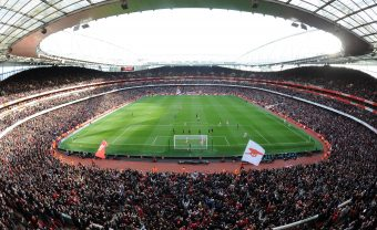 LONDON, ENGLAND - OCTOBER 28:  A genera view of Emirates Stadium during the Premier League match between Arsenal and Swansea City  on October 28, 2017 in London, England.  (Photo by Stuart MacFarlane/Arsenal FC via Getty Images) *** Local Caption *** Emirates Stadium