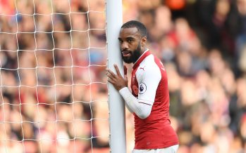 LONDON, ENGLAND - OCTOBER 28: Alex Lacazette of Arsenal during the Premier League match between Arsenal and Swansea City at Emirates Stadium on October 28, 2017 in London, England. (Photo by Stuart MacFarlane/Arsenal FC via Getty Images) *** Local Caption *** Alex Lacazette