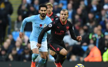 MANCHESTER, ENGLAND - NOVEMBER 05:  Jack Wilshere of Arsenal during the Premier League match between Manchester City and Arsenal at Etihad Stadium on November 5, 2017 in Manchester, England.  (Photo by Stuart MacFarlane/Arsenal FC via Getty Images) *** Local Caption *** Jack Wilshere