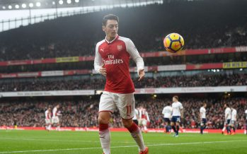LONDON, ENGLAND - NOVEMBER 18: Mesut Ozil of Arsenal during the Premier League match between Arsenal and Tottenham Hotspur at Emirates Stadium on November 18, 2017 in London, England. (Photo by Stuart MacFarlane/Arsenal FC via Getty Images) *** Local Caption *** Mesut Ozil;Oezil