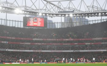 LONDON, ENGLAND - NOVEMBER 18: A general view of Emirates stadium during the Premier League match between Arsenal and Tottenham Hotspur on November 18, 2017 in London, England. (Photo by Stuart MacFarlane/Arsenal FC via Getty Images)