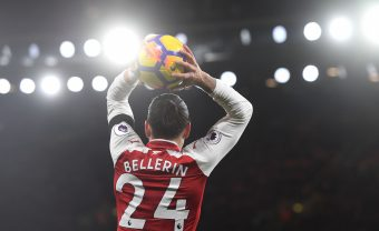 LONDON, ENGLAND - NOVEMBER 29:  Hector Bellerin of Arsenal during the Premier League match between Arsenal and Huddersfield Town at Emirates Stadium on November 29, 2017 in London, England.  (Photo by Stuart MacFarlane/Arsenal FC via Getty Images) *** Local Caption *** Hector Bellerin