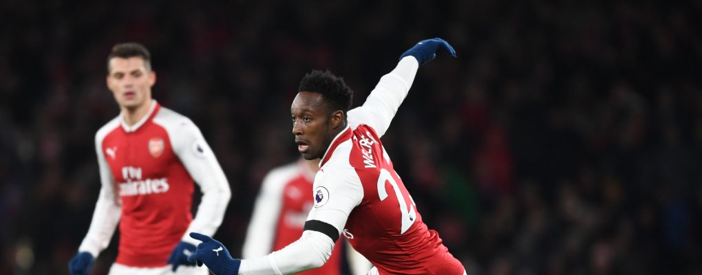 LONDON, ENGLAND - NOVEMBER 29:  Danny Welbeck of Arsenal during the Premier League match between Arsenal and Huddersfield Town at Emirates Stadium on November 29, 2017 in London, England.  (Photo by Stuart MacFarlane/Arsenal FC via Getty Images) *** Local Caption *** Danny Welbeck