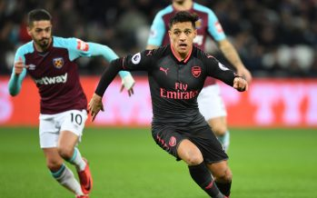LONDON, ENGLAND - DECEMBER 13: Alexis Sanchez of Arsenal during the Premier League match between West Ham United and Arsenal at London Stadium on December 13, 2017 in London, England. (Photo by Stuart MacFarlane/Arsenal FC via Getty Images) *** Local Caption *** Alexis Sanchez