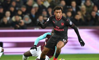 LONDON, ENGLAND - DECEMBER 13: Alex Iwobi of Arsenal during the Premier League match between West Ham United and Arsenal at London Stadium on December 13, 2017 in London, England. (Photo by Stuart MacFarlane/Arsenal FC via Getty Images) *** Local Caption *** Alex Iwobi