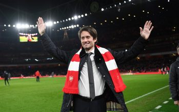 LONDON, ENGLAND - FEBRUARY 03:  Tomas Rosicky the ex Arsenal player is interviewed during the match the Premier League match between Arsenal and Everton at Emirates Stadium on February 3, 2018 in London, England.  (Photo by David Price/Arsenal FC via Getty Images) *** Local Caption *** Tomas Rosicky