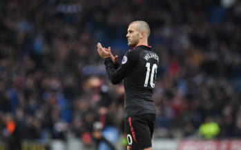 BRIGHTON, ENGLAND - MARCH 04:  Jack Wilshere of Arsenal claps the Arsenal fans after the Premier League match between Brighton and Hove Albion and Arsenal at Amex Stadium on March 4, 2018 in Brighton, England.  (Photo by David Price/Arsenal FC via Getty Images) *** Local Caption *** Jack Wilshere