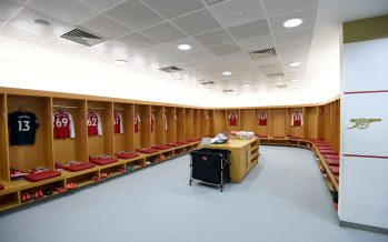 LONDON, ENGLAND - MARCH 11: The Arsenal changingroom before the Premier League match between Arsenal and Watford at Emirates Stadium on March 11, 2018 in London, England.  (Photo by David Price/Arsenal FC via Getty Images) *** Local Caption *** Arsenal changingroom