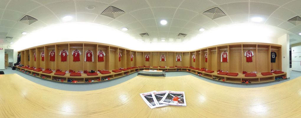 LONDON, ENGLAND - APRIL 01:  The Arsenal changing room before the Premier League match between Arsenal and Stoke City at Emirates Stadium on April 1, 2018 in London, England.  (Photo by Stuart MacFarlane/Arsenal FC via Getty Images) *** Local Caption *** Arsenal changing room