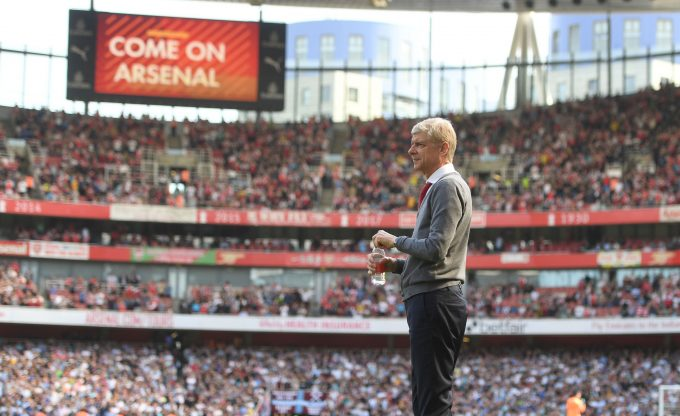 LONDON, ENGLAND - APRIL 22:  Arsenal manager Arsene Wenger during the Premier League match between Arsenal and West Ham United at Emirates Stadium on April 22, 2018 in London, England.  (Photo by Stuart MacFarlane/Arsenal FC via Getty Images) *** Local Caption *** Arsene Wenger