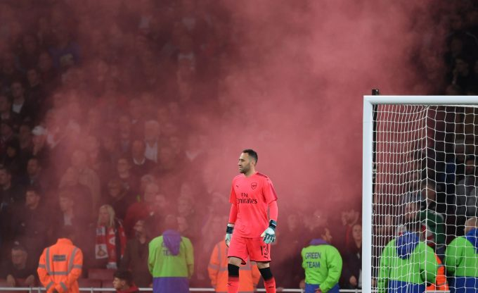 LONDON, ENGLAND - SEPTEMBER 20: David Ospina of Arsenal during the Carabao Cup Third Round match between Arsenal and Doncaster Rovers at Emirates Stadium on September 19, 2017 in London, England. (Photo by Stuart MacFarlane/Arsenal FC via Getty Images) *** Local Caption *** David Ospina