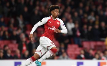 LONDON, ENGLAND - SEPTEMBER 14:  Reiss Nelson of Arsenal during the UEFA Europa League group H match between Arsenal FC and 1. FC Koeln at Emirates Stadium on September 14, 2017 in London, United Kingdom.  (Photo by Stuart MacFarlane/Arsenal FC via Getty Images) *** Local Caption *** Reiss Nelson