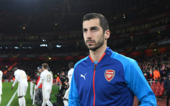 LONDON, ENGLAND - FEBRUARY 22: Henrikh Mkhitaryan of Arsenal before UEFA Europa League Round of 32 match between Arsenal and Ostersunds FK at the Emirates Stadium on February 22, 2018 in London, United Kingdom. (Photo by Stuart MacFarlane/Arsenal FC via Getty Images) *** Local Caption *** Henrikh Mkhitaryan