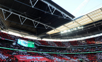 <> at Wembley Stadium on February 25, 2018 in London, England.