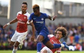 DUBLIN, IRELAND - AUGUST 01:  Matteo Guendouzi of Arsenal tackles Callum Hudson-Odoi of Chelsea during the Pre-season friendly between Arsenal and Chelsea on August 1, 2018 in Dublin, Ireland.  (Photo by David Price/Arsenal FC via Getty Images) *** Local Caption *** Matteo Guendouzi; Callum Hudson-Odoi