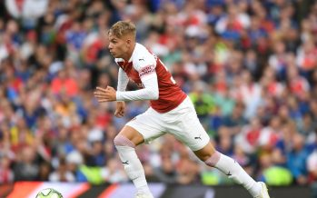 DUBLIN, IRELAND - AUGUST 01:  Emile Smith Rowe of Arsenal during the Pre-season friendly between Arsenal and Chelsea on August 1, 2018 in Dublin, Ireland.  (Photo by Stuart MacFarlane/Arsenal FC via Getty Images) *** Local Caption *** Emile Smith Rowe