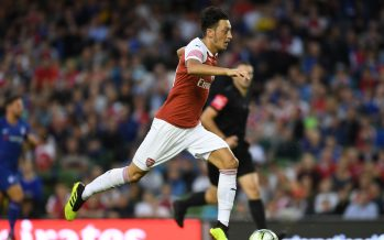 DUBLIN, IRELAND - AUGUST 01: Mesut Ozi of Arsenal during the Pre-season friendly between Arsenal and Chelsea on August 1, 2018 in Dublin, Ireland. (Photo by Stuart MacFarlane/Arsenal FC via Getty Images) *** Local Caption *** Mesut Ozil;Oezil