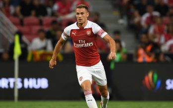 SINGAPORE - JULY 26:  Aaron Ramsey of Arsenal during the International Champions Cup 2018 match between Club Atletico de Madrid and Arsenal at the National Stadium on July 26, 2018 in Singapore.  (Photo by Stuart MacFarlane/Arsenal FC via Getty Images) *** Local Caption *** Aaron Ramsey
