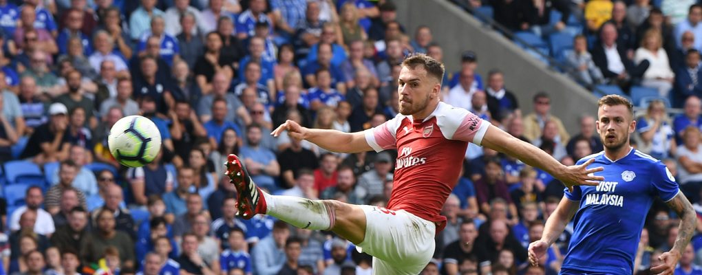 CARDIFF, WALES - SEPTEMBER 02:  Aaron Ramsey of Arsenal during the Premier League match between Cardiff City and Arsenal  at Cardiff City Stadium on September 2, 2018 in Cardiff, United Kingdom.  (Photo by Stuart MacFarlane/Arsenal FC via Getty Images) *** Local Caption *** Aaron Ramsey