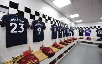 LONDON, ENGLAND - OCTOBER 07:  The Arsenal changing room before the Premier League match between Fulham FC and Arsenal FC at Craven Cottage on October 6, 2018 in London, United Kingdom.  (Photo by Stuart MacFarlane/Arsenal FC via Getty Images)
