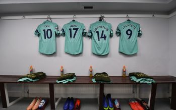 LONDON, ENGLAND - OCTOBER 28:  The Arsenal kit in the changingroom before the Premier League match between Crystal Palace and Arsenal FC at Selhurst Park on October 28, 2018 in London, United Kingdom.  (Photo by David Price/Arsenal FC via Getty Images) *** Local Caption *** Arsenal changingroom