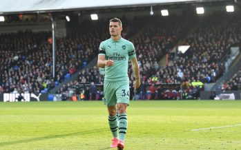 LONDON, ENGLAND - OCTOBER 28:  Granit Xhaka celebrates scoring Arsenal's 1st goal during the Premier League match between Crystal Palace and Arsenal FC at Selhurst Park on October 28, 2018 in London, United Kingdom.  (Photo by David Price/Arsenal FC via Getty Images) *** Local Caption *** Granit Xhaka