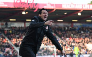 BOURNEMOUTH, ENGLAND - NOVEMBER 25:  Arsenal Head Coach Unai Emery during the Premier League match between AFC Bournemouth and Arsenal FC at Vitality Stadium on November 25, 2018 in Bournemouth, United Kingdom.  (Photo by David Price/Arsenal FC via Getty Images) *** Local Caption *** Unai Emery