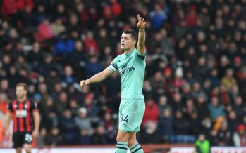 BOURNEMOUTH, ENGLAND - NOVEMBER 25:  Granit Xhaka of Arsenal during the Premier League match between AFC Bournemouth and Arsenal FC at Vitality Stadium on November 25, 2018 in Bournemouth, United Kingdom.  (Photo by Stuart MacFarlane/Arsenal FC via Getty Images) *** Local Caption *** Granit Xhaka