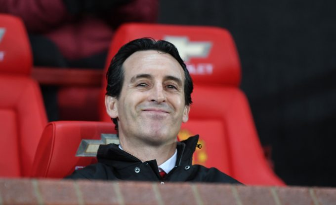 MANCHESTER, ENGLAND - DECEMBER 05:  Arsenal Head Coach Unai Emery before the Premier League match between Manchester United and Arsenal FC at Old Trafford on December 5, 2018 in Manchester, United Kingdom.  (Photo by Stuart MacFarlane/Arsenal FC via Getty Images) *** Local Caption *** Unai Emery