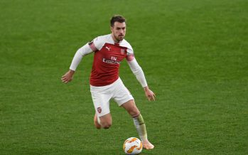 LONDON, ENGLAND - NOVEMBER 08:  Aaron Ramsey of Arsenal during the UEFA Europa League Group E match between Arsenal and Sporting CP at Emirates Stadium on November 8, 2018 in London, United Kingdom.  (Photo by David Price/Arsenal FC via Getty Images) *** Local Caption *** Aaron Ramsey