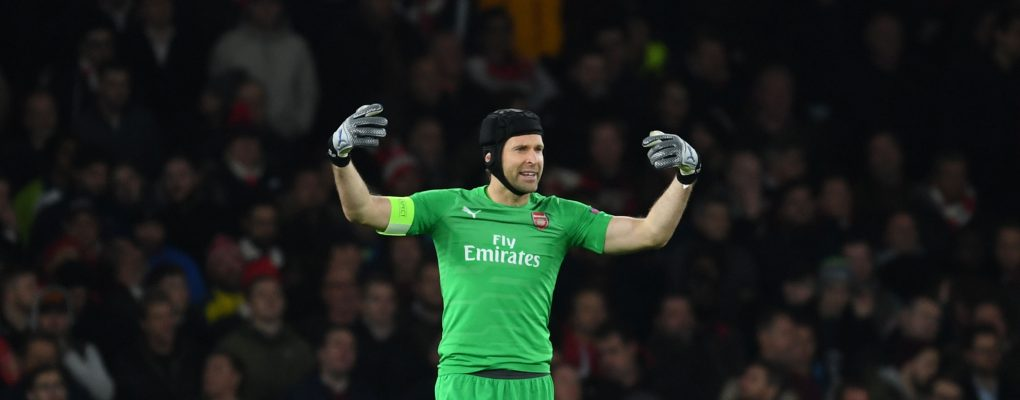 LONDON, ENGLAND - NOVEMBER 08: Petr Cech of Arsenal during the UEFA Europa League Group E match between Arsenal and Sporting CP at Emirates Stadium on August 11, 2018 in London, United Kingdom. (Photo by Stuart MacFarlane/Arsenal FC via Getty Images) *** Local Caption *** Petr Cech