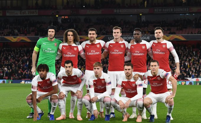 LONDON, ENGLAND - NOVEMBER 08: of Arsenal during the UEFA Europa League Group E match between Arsenal and Sporting CP at Emirates Stadium on August 11, 2018 in London, United Kingdom. (Photo by Stuart MacFarlane/Arsenal FC via Getty Images)