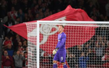 LONDON, ENGLAND - SEPTEMBER 20:  Bernd Leno of Arsenal during the UEFA Europa League Group E match between Arsenal and Vorskla Poltava at Emirates Stadium on September 20, 2018 in London, United Kingdom.  (Photo by Stuart MacFarlane/Arsenal FC via Getty Images) *** Local Caption *** Bernd Leno