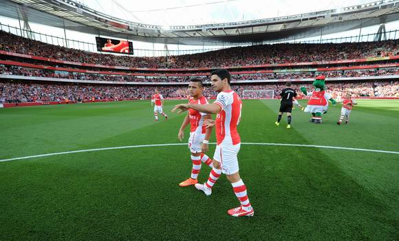 ST ALBANS, ENGLAND - AUGUST 16: of Arsenal during the Barclays Premier League match between Arsenal and Crystal Palace at Emirates Stadium on August 16, 2014 in London, England. (Photo by Stuart MacFarlane/Arsenal FC via Getty Images)
