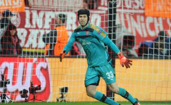 MUNICH, GERMANY - NOVEMBER 04:  Petr Cech of Arsenal during the UEFA Champions League Group Stage match between Bayern Muenchen and Arsenal at the Allianz Arena on November 4, 2015 in Munich, Germany.  (Photo by Stuart MacFarlane/Arsenal FC via Getty Images) *** Local Caption *** Petr Cech