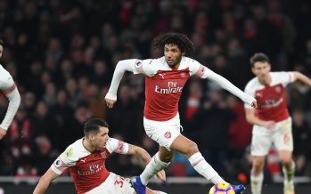 LONDON, ENGLAND - JANUARY 19: Mo Elneny of Arsenal during the Premier League match between Arsenal FC and Chelsea FC at Emirates Stadium on January 19, 2019 in London, United Kingdom. (Photo by Stuart MacFarlane/Arsenal FC via Getty Images)