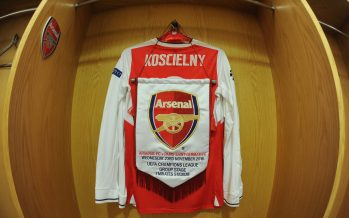 LONDON, ENGLAND - NOVEMBER 23:  Laurent Koscielny of Arsenal shirt in the changingroom before the UEFA Champions League match between Arsenal FC and Paris Saint-Germain at Emirates Stadium on November 23, 2016 in London, England.  (Photo by David Price/Arsenal FC via Getty Images) *** Local Caption *** Laurent Koscielny
