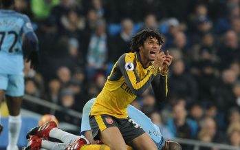 MANCHESTER, ENGLAND - DECEMBER 18:  Arsenal's Mohamed Elneny during the Premier League match between Manchester City and Arsenal at Etihad Stadium on December 18, 2016 in Manchester, England.  (Photo by Stuart MacFarlane/Arsenal FC via Getty Images) *** Local Caption *** Mohamed Elneny